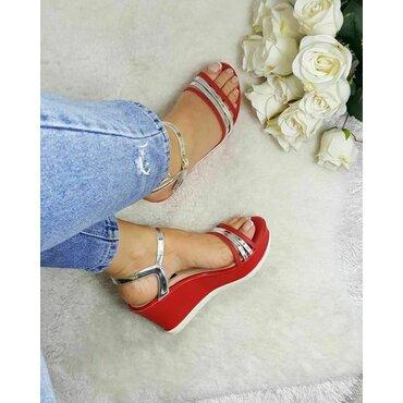 Sandale dama rosii Sidney