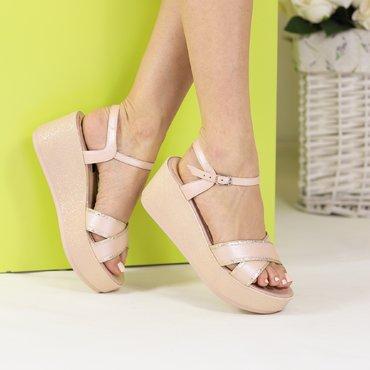 Sandale de dama din piele naturala roz Twix Soft