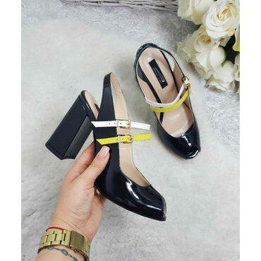 Sandale de dama lac negre Mary
