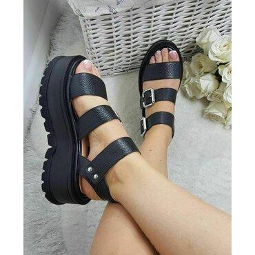 Sandale de dama negre Matrix