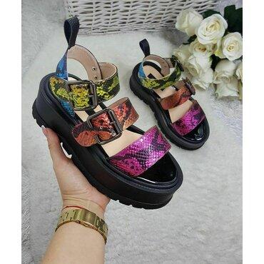 Sandale de dama piele color Matrix