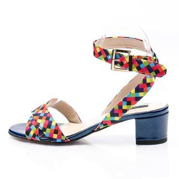Sandale de dama textil multicolor Sacha
