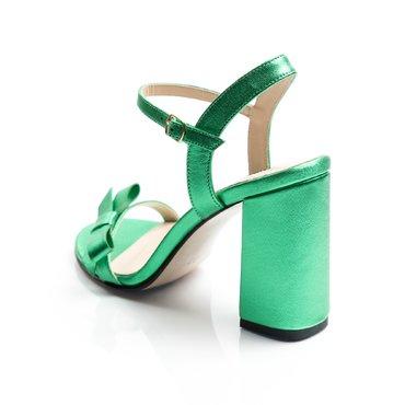 Sandale de dama Vera piele verde sidefat