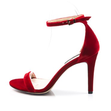 Sandale de ocazie catifea rosie Scarlet