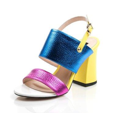 Sandale din piele naturala colorata Loca