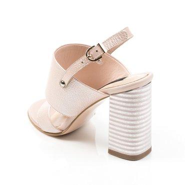 Sandale din piele naturala roz sidefat Loca