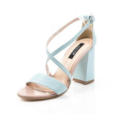 Sandale din piele naturala turcoaz Best