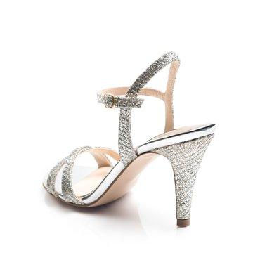 Sandale elegante de dama glitter argintiu Mila