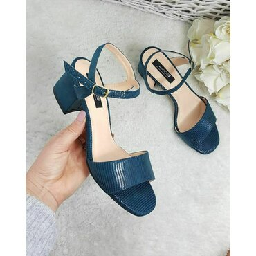 Sandale piele naturala albastre Masi