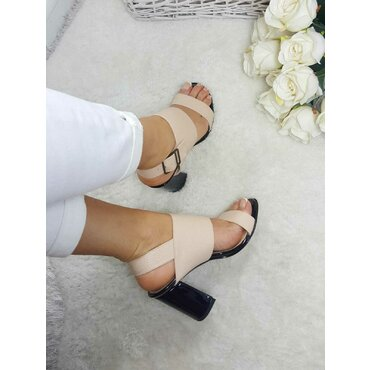 Sandale piele naturala bej Lika