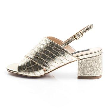 Sandale piele print auriu Rebeca