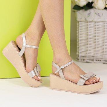 Sandale platforma bej Olga