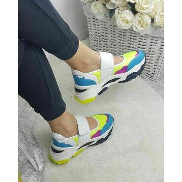 Sneakers din piele naturala color Daria