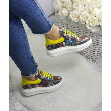 Sneakers din piele naturala color Koli