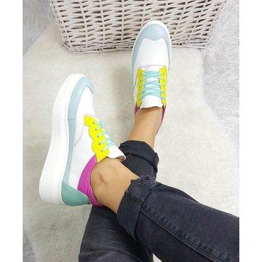 Sneakers din piele naturala culori Samy