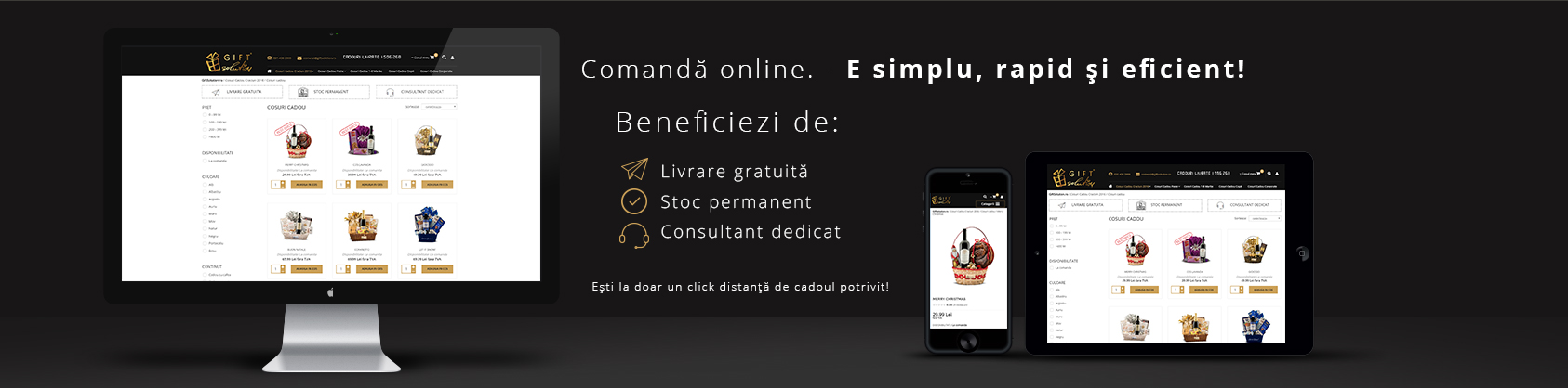 Comanda online simplu