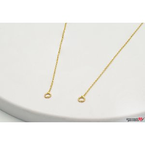 Lant SUPLIMENT GOLD 14K cu prindere laterala (40-45cm)