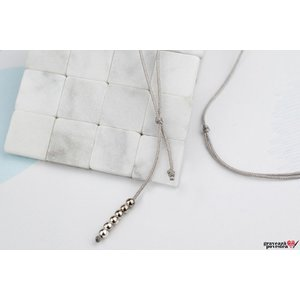 Baza colier snur SILVER BEADS