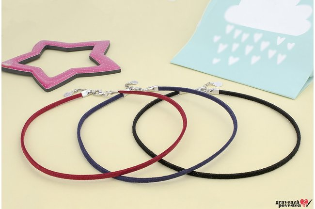 Baza colier SUEDE CHOKER