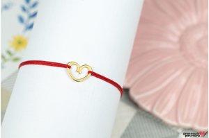 Bratara ADORABLE HEART 11mm placata cu aur