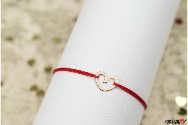 Bratara ADORABLE HEART 11mm placata cu aur roz