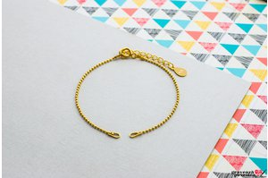 Bratara SUPLIMENT BEADS placat cu aur (1mm)