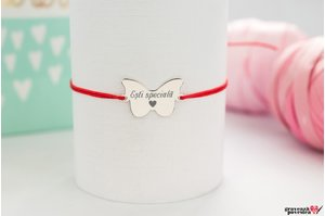 Bratara BUTTERFLY 20mm TEXT