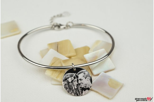 Bratara CHARM BANGLE - COIN 16.5mm FOTO
