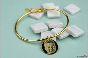 Bratara CHARM BANGLE - COIN 16,5mm FOTO placata cu aur