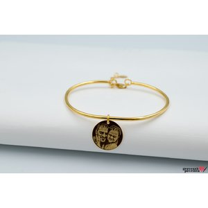 Bratara CHARM BANGLE - COIN 16.5mm FOTO placata cu aur