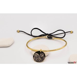 Bratara CHARM BANGLE SNUR 16.5mm FOTO placata cu aur