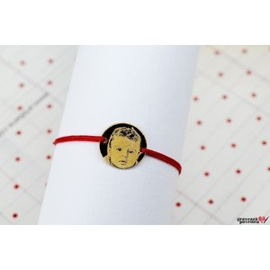 Bratara COIN 14.5mm FOTO placata cu aur