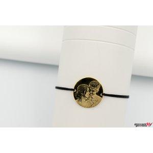 Bratara COIN 19mm FOTO placata cu aur