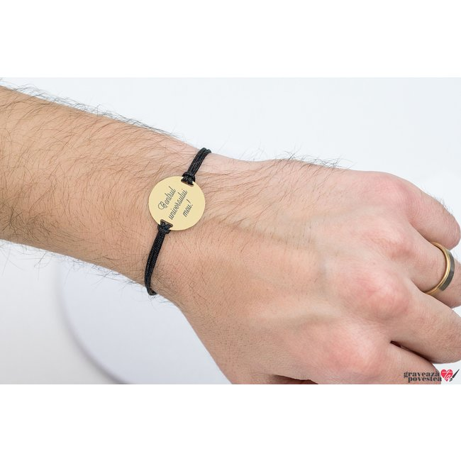 Bratara COIN 22mm GOLD 14K TEXT