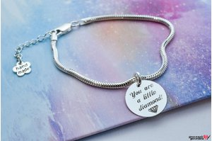 Bratara FOR HER - CHARMS COIN 16.5mm TEXT