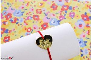 Bratara HEART 20mm FOTO placata cu aur