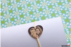 Bratara HEART 20mm FOTO placata cu aur roz