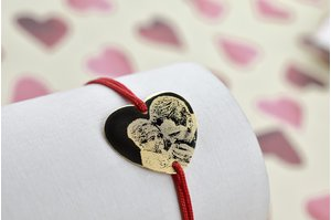 Bratara HEART 20mm GOLD 14K FOTO