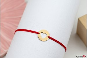 Bratara HEART COIN 10mm GOLD 14K