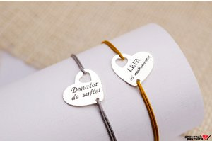 Bratara Heart IN Heart 18mm TEXT
