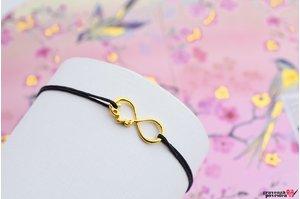 Bratara INFINITY LOVE 18mm placata cu aur