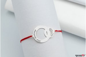Bratara CIRCLE & BABY CIRCLE 26mm TEXT
