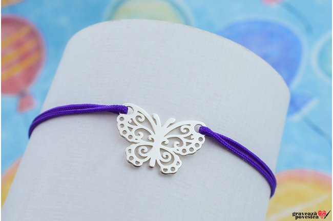 Bratara LACE BUTTERFLY 15mm