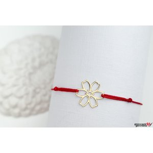 Bratara LACE FLOWER 15mm GOLD