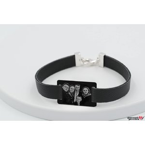 Bratara Leather Band RECTANGLE 28mm FOTO