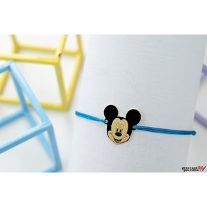 Bratara MICKEY 16mm TEXT placata cu aur