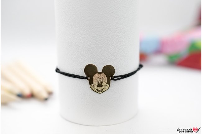 Bratara MICKEY / MINNIE 16mm TEXT GOLD 14K