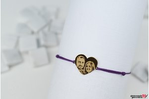 Bratara MY HEART 15mm PURE GOLD 14K FOTO