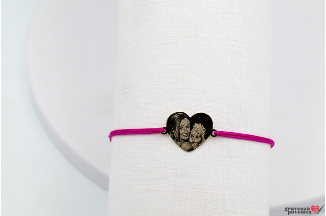 Bratara MY HEART 15mm GOLD 14K FOTO