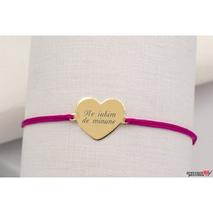 Bratara MY HEART 15mm GOLD 14K TEXT
